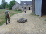France fitness camp tyre drag